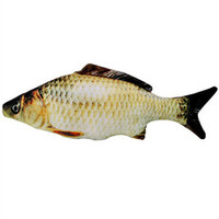 瓜洲牧 猫玩具 鱼抱枕 20cm 送猫薄荷+发声小老鼠