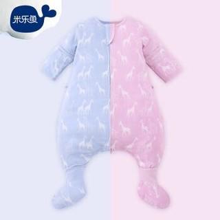 misslele 米乐鱼 婴儿纱布短袖分腿睡袋 *2件 +凑单品