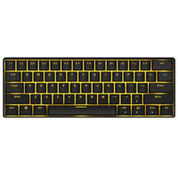 18点开始:ROYAL KLUDGE RK61 双模61键机械键盘(国产青轴、黑色键帽、蓝牙、有线、暗金背光、黑色)