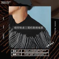 UOOHE 佑禾 MS630208 男士针织衫 (黑白拼色、M)