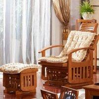 光明家具 现代中式北美红橡木摇椅4566