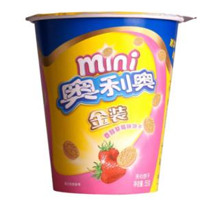 OREO 奥利奥 Mini金装 草莓味饼干 55g *30件