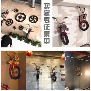 惠尊 工业风摩托车墙面墙壁装饰