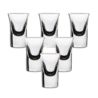 hyu 玻璃白酒杯 30ml 6只