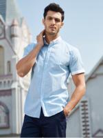 FIRS 杉杉  HCB1326-1D 男士短袖衬衫