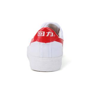 WARRIOR 回力 WB-1A 中性帆布鞋 (红白、41)