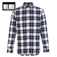 JACK JONES 杰克琼斯 MLMR系列 218105506 男士法兰绒格纹衬衫 (深灰色、M)