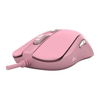 AKKO AG325 对称式 有线游戏鼠标 吃鸡 电竞鼠标 樱花粉