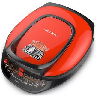 利仁(Liven)电饼铛 一键速热 一键可拆洗 智能语音 双环火力 全塑包边 LR-S3000