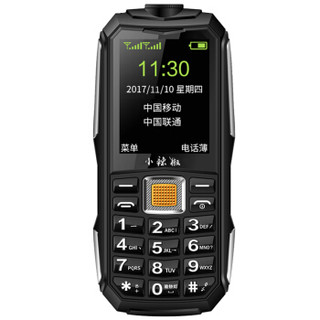 小辣椒 G108 三防老人手机 (2GB以下、支持内存卡、移动/联通、黑色)
