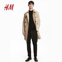 H&M HM0551550__3 男士风衣 (米色、52)