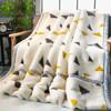 九洲鹿 双层加厚拉舍尔毛毯