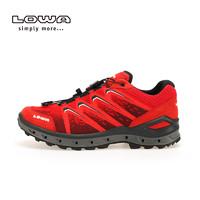 LOWA户外防水轻便透气越野跑鞋男AEROX GTX 运动低帮鞋L310626 (石墨色/红色、43)
