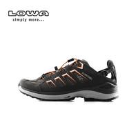LOWA户外野外越野跑鞋男轻便透气麦迪逊男式跑步低帮鞋L410481027 (石墨色/橙色、43.5)