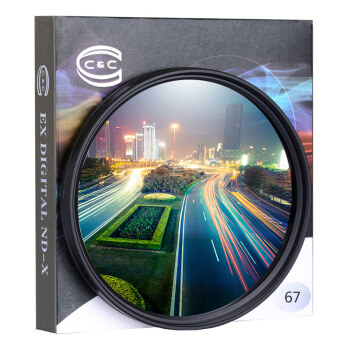 京东PLUS会员 : C&C 可调ND2-400减光镜 67mm中灰密度镜
