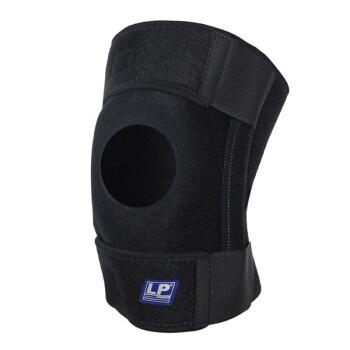 LP733KM夏季强透气升级款运动护膝双弹簧支撑户外跑步篮球登山羽毛球膝关节防护护具 均码