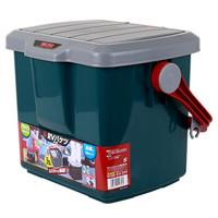 爱丽思IRIS 车载收纳箱洗车水桶汽车多用箱RV25B 约25升车载储物箱钓鱼登 绿色
