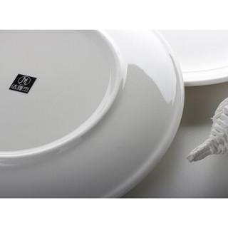 洁雅杰 白瓷西餐盘 10英寸 2只装
