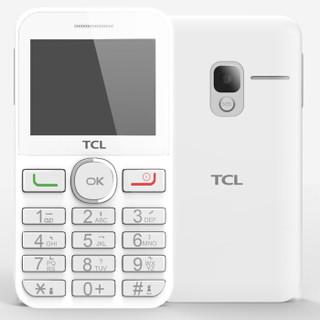 TCL 老人手机 121 白色 移动联通2G手机 双卡双待
