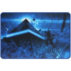 灵蛇 鼠标垫 游戏鼠标垫 电脑办公桌键盘垫大号 精密包边 防滑 可水洗 P03蓝色