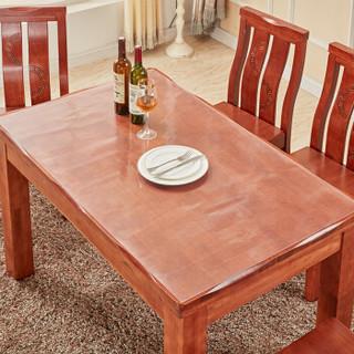 铭聚布艺 软玻璃加厚PVC桌布防水防烫塑料台布餐桌垫茶几垫透明磨砂水晶板磨砂款(厚度1.5mm) 90cm*150cm