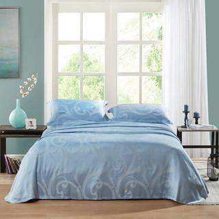 LOVO凉席时尚提花可折叠竹纤维空调席可水洗床单款夏凉席  罗莱生活出品 苏菲尔1.5米床
