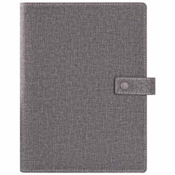 GuangBo 广博 GBP8607 按扣活页笔记本子 (单个装、灰、A5)