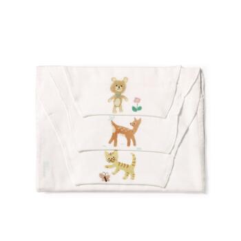 PurCotton 全棉时代 婴儿纱布汗巾 小熊+小鹿+小猫