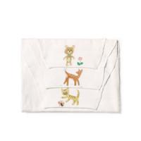 PurCotton 全棉时代 婴儿纱布汗巾 小熊+小鹿+小猫,有赠品 *11件