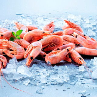 Seamix 禧美海产 熟冻北极甜虾 1kg/盒 90-120只 (1kg)