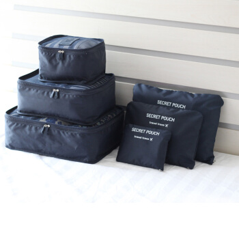 EDO 依帝欧 TH1140 旅行收纳袋6件套 深蓝色