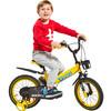 荟智儿童自行车单车 小孩自行车脚踏车 HB1601-L651 16寸黄色 219元
