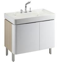 KOHLER 科勒 K-45764T-0 浴室柜龙头 900mm 三孔 (浴室柜套装、落地式、一体陶瓷盆)