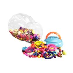B.Toys 比乐 波普珠珠 创意DIY无绳串珠玩具 手工益智 项链手链 女孩 300粒装 无需线 4岁+ BX1254Z *2件