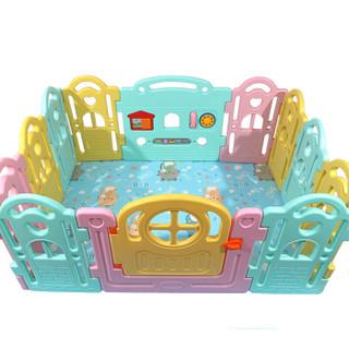 多喜兔儿童玩具 安全游戏围栏 10+2 糖果色