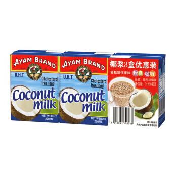 AYAM BRAND 雄鸡标 椰浆优惠组合装 200ml*3盒