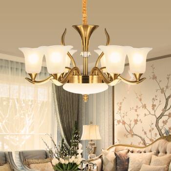 nvc-lighting 雷士照明 EODⅦ9001 吊灯 (古铜色、6头、锌合金+玻璃)