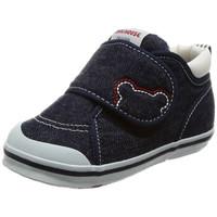 MIKI HOUSE 二段婴儿学步鞋 小熊Logo ( 靛蓝色 、14.5)