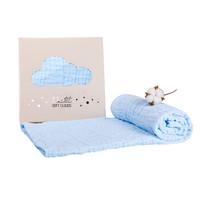 小白熊  09953 婴幼儿纱布浴巾 蓝色 100cm*100cm