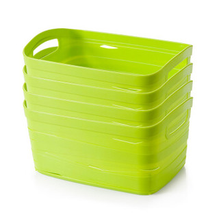 Jeko&Jeko SWB-6123 塑料收纳筐 4只 中号 绿色 *3件