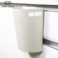 佳佰 垃圾桶厨房挂式 橱柜门挂式无盖垃圾盒 创意桌面台面垃圾收纳盒 灰色 J-703 *5件