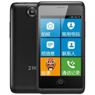 21KE MC001S 大屏幕大音量 触屏老人手机 (黑色、8GB以下、移动联通)