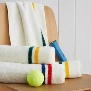 DAPU 大朴 新疆阿瓦提纯棉运动巾 绿黄条纹 30*110cm