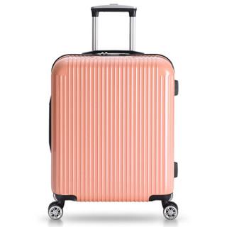 网易严选黑凤梨20英寸PC膜拉链旅行箱拉杆箱 男女轻盈静音万向轮登机箱行李箱 肉桂粉