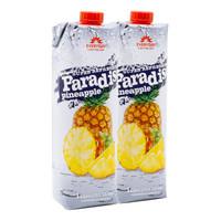 Paradise 果汁饮料 菠萝汁 1L*2瓶