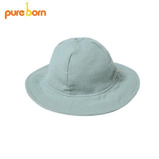 pureborn 博睿恩 新生婴儿帽子 (浅薄荷、49cm)