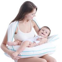 爱孕防螨哺乳枕头多功能婴儿喂奶枕新生儿防吐奶孕妇护腰抱娃神器 北欧银狐