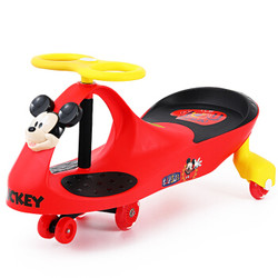 迪士尼扭扭车 儿童摇摇车滑行溜溜车闪光静音轮 米奇款