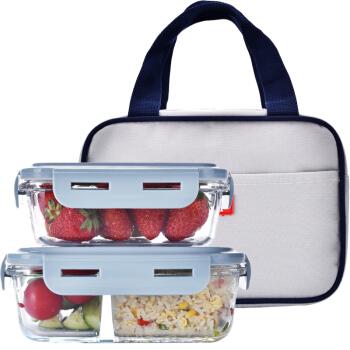 PETER RABBIT 比得兔 PR-T1005 玻璃保鲜盒两件套 赠保温包