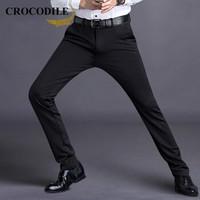 Crocodile 鳄鱼恤 98551061 男士商务休闲裤 黑色 薄款 32